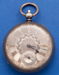 Timepieces:Pocket (pre 1900) , G. Blackhurst Sterling Lever Fusee With Fancy Dial Pocket Watch....