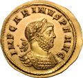 Ancients:Roman Imperial, Ancients: Carinus. Carinus. 283-285 AD. Aureus, 4.67g (12h). Rome.Obv: IMP CARINVS P F AVG Bust laureate, cuirassed right, seen f...