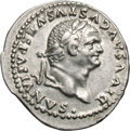 Ancients:Roman Imperial, Ancients: Divus Vespasian. Died 79 AD. Denarius, 3.42g (6h). Rome,80-1 AD. Obv: DIVVS AVGVSTVS VESPASIANVS. Head laureate right. Rx:...