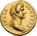 Ancients:Roman Imperial, Ancients: Julia Titi. Aureus, 7.47g (6h). Rome, 85-90 AD. Obv: IVLIA - AVGVSTA Bust draped right, hair massed high in front and in lon...