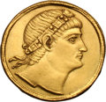 Ancients:Roman Imperial, Ancients: Constantine I. 307-337 AD. Solidus, 4.45g (6h). Nicomedia, 335 AD. Obv: No legend, diademed head of Constantine right gazing...