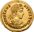 Ancients:Roman Imperial, Ancients: Constans. 337-350 AD. Solidus, 4.64g (6h). Aquileia,340-350 AD. Obv: CONSTANS - AVGVSTVS Draped, cuirassed bust rightseen ...