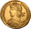 Ancients:Roman Imperial, Ancients: Constantius II. 337-361 AD. Gold medallion, two solidi,8.55g (6h). Thessalonica, 350-5 AD. Obv: FL IVL CONSTAN - TIVS PERP...