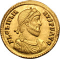 Ancients:Roman Imperial, Ancients: Julian II. 360-363 AD. Solidus, 4.52g (7h).Constantinople. Obv: FL CL IVLIA - NVS P F AVG Pearl-diademed,draped, cuirassed...