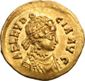 Ancients:Roman Imperial, Ancients: Aelia Eudocia, Wife of Theodosius II. Tremissis, 1.20g (6h). Constantinople. Obv: AEL EVDO - CIA AVG Diademed, draped bu...