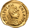 Ancients:Roman Imperial, Ancients: Aelia Pulcheria, Sister of Theodosius II. Tremissis, 1.44g (1h). Constantinople. Obv: AEL PVLCH - ERIA AVG Diademed, draped ...