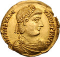 Ancients:Roman Imperial, Ancients: Constantine III. 407-411 AD. Solidus, 4.42g (6h).Lugdunum. Obv: D N CONSTAN - TINVS P F AVG Dpaped, cuirassed bustright, w...