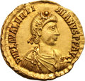Ancients:Roman Imperial, Ancients: Valentinian III. 425-455 AD. Solidus, 4.45g (6h). Rome.Obv: D N PLA VALENTI - NIANVS P F AVG Rosette-diademed, draped,cuir...