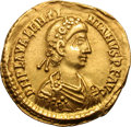 Ancients:Roman Imperial, Ancients: Valentinian III. 425-455 AD. Solidus, 4.41g (6h).Ravenna, c. 430-45 AD. Obv: D N PLA VALENTI - NIANVS P F AVGRosette-diade...