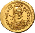 Ancients:Roman Imperial, Ancients: Leo I. 457-474 AD. Solidus, 4.47g (6h). Constantinople. Obv: D N LEO PE - RPET AVG Helmeted, cuirassed bust three-quarter fr...