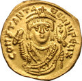 Ancients:Byzantine, Ancients: Tiberius II Constantine. 578-582 AD. Solidus, 4.33g (5h).Constantinope, c. 579 AD. Obv: CONSTANT A - UG UIU FELIX[Constant...