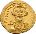 Ancients:Byzantine, Ancients: Constans II. 641-668 AD. Light-weight solidus, 4.28g(7h). Constantinople, c. 651-654 AD. Obv: d N CONSTAN - TINuS PPA[V] B...