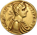 Ancients:World, Ancients: Kingdom of Sicily. Frederick II. 1197-1250 AD. Augustale, 5.23g (8h). Messina. Obv: IMP ROM - .CESAR AVG Laureate bust right...