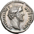 Ancients:Roman Imperial, Ancients: Antoninus Pius. 138-161 AD. Denarius, 3.53g (6h). Rome,140-4 AD. Obv: ANTONINVS - AVG PIVS P P Head bare right. Rx: TR POT...