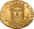 Ancients:Byzantine, Ancients: Constantine VI and Irene. 780-797 AD. Solidus, 4.38g (7h). Constantinople, c. 792-797 AD. Obv: IRInH AΓOVSTI Bust of Irene f...