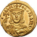 Ancients:Byzantine, Ancients: Nicephorus I and Stauracius. 802-811AD. Solidus, 4.43g(6h). Constantinople, c. 803-811 AD. Obv: nICI - FOROS bASILE' Bustf...