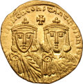 Ancients:Byzantine, Ancients: Leo IV, the Khazar. 775-780 AD. Solidus, 4.43g (5h).Constantinople. Obv: [LEON VS S] EΣΣON CONSTANTINOS O NEOS Facingbusts...