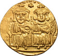 Ancients:Byzantine, Ancients: Leo IV, the Khazar. 775-780 AD. Solidus, 4.47g (6h).Constantinople. Obv: [LEON VS S EΣΣON CONSTANTINOS O NEOS] Leo IV(on l...