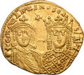 Ancients:Byzantine, Ancients: Constantine VI and Irene. 780-797 AD. Solidus, 4.46g(7h). Constantinople, c. 790-792 AD. Obv: COnSTAnTInOS CA - b' Δ'Facin...