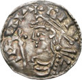 Ancients:World, Ancients: Saxon England. Cnut. 1016-1035. Penny, 1.17g (10h). London. Obv: Short cross type. Crowned bust left, holding scepter. Rx: E...
