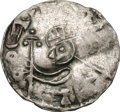 Ancients:World, Ancients: Norway. Olav Kyrre. 1067-1080. Penny, 1.02g (12h). Obv: Crowned, half-length bust of king left, holding long cross standard....