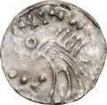 Ancients:World, Ancients: Norway. Olav Kyrre. 1067-1080. Penny, 0.68g (11h). Obv: Dragon head (?) left, blundered legend. Rx: Short bifurcated cross i...