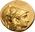 Ancients:Greek, Ancients: Macedonian Kingdom. Alexander III The Great. Gold Stater,8.56g (2h). Uncertain mint. Obv: Helmeted head of Athena right,he...