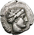 Ancients:Greek, Ancients: Bruttium. Terina. c. 420-400 BC. Stater, 7.64g (7h). Obv: [T]EPINAION Head of nymph Terina wearing amphyx right. Rx: Nike se...