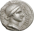 Ancients:Roman Imperial, Ancients: Civil War. 68 AD. Denarius, 3.64g (4h). Obv: LIBERTAS - RESTITVTA Draped bust of Libertas right, hair rolled from forehead d...