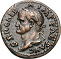 Ancients:Roman Imperial, Ancients: Galba. 68-69 AD. As, 11.12g (6h). Rome. Obv: SER GALB - A IMP CAES AVG Bust laureate, draped left. Rx: S - C Legionary eagle...