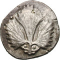 Ancients:Greek, Ancients: Sicily. Selinus. c. 540-515 BC. Didrachm, 8.75g. Obv:Selinon leaf, the base of which resembles an animal's head(possibly a...