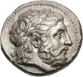 Ancients:Greek, Ancients: Macedonian Kingdom. Philip II. c. 323/2-315 BC. Tetradrachm, 14.38g (3h). Obv: Laureate head right of Philip II in the guise...