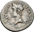 Ancients:Roman Imperial, Ancients: Roman Empire. Augustus. 27 BC-14 AD. Denarius, 3.71g(2h). Emerita, c. 25-23 BC. Obv: IMP CAESAR AVGVST Head bare left....