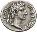 Ancients:Roman Imperial, Ancients: Augustus and Agrippa. Denarius, moneyer Cossus Cn. F.Lentulus, 3.82g (9h). Rome, 12 BC. Obv: AVGVSTVS - COS XI Head ofAugu...