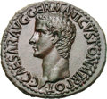 Ancients:Roman Imperial, Ancients: Caligula. 37-41 AD. As, 12.04g (6h). Rome, 37-8 AD. Obv: C CAESAR AVG GERMANICVS PON M TR POT Head bare left. Rx: VESTA S - ...