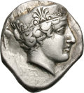 Ancients:Greek, Ancients: Elis. Olympia. Hera Mint, 90th Olympiad, 420 BC. Stater, 11.87g (2h). Obv: Head of Hera right, wearing stephane ornamented w...