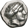 Ancients:Greek, Ancients: Elis. Olympia. 106th Olympiad, c. 356 BC. Stater, 11.92g(2h). Obv: F - A Head of Hera right, wearing stephane ornamentedwi...