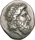 Ancients:Greek, Ancients: Elis. Olympia. 107th Olympiad, c. 352 BC. Stater, 11.96g (1h). Obv: Laureate head of Zeus right. Rx: FAΛ - EIΩN Eagle standi...