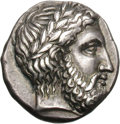 Ancients:Greek, Ancients: Elis. Olympus. 109th Olympiad, c. 344 BC. Stater, 11.96g(5h). Obv: Laureate head of Zeus right. Rx: Eagle standing righton...