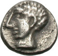 Ancients:Greek, Ancients: Cilicia. Salamis (?). Uncertain Ruler. c. Late 5th/early 4th century BC. Uncertain denomination, 0.29g (11h). Obv: Head of y...