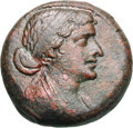 Ancients:Greek, Ancients: Ptolemaic Kingdom. Cleopatra VII. 51-30 BC. AE 27, 12.87g (11h). Obv: Diademed bust of Cleopatra VII right. Rx: ΚΛΕOΠΑΤ...