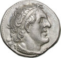 Ancients:Greek, Ancients: Ptolemaic Kingdom. Ptolemy I. 305-282 BC. Tetradrachm,14.18g (1h). Alexandria. Obv: Diademed head right, wearing aegis;sma...