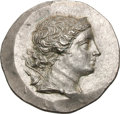 Ancients:Greek, Ancients: Ionia. Magnesia ad Maeandrum. after 190 BC. Tetradrachm,16.52g (12h). Obv: Bust of Artemis right wearing tiara, bow andqui...