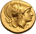 Ancients:Greek, Ancients: Macedonian Kingdom. Alexander III The Great. 336-323 BC.Gold distater, 17.08g (11h). Amphipolis, c. 330-320 BC. Obv:Helmet...