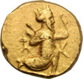 Ancients:Greek, Ancients: Babylon. Alexandrine Era. After 328 BC. Gold Double Daric, 16.79g. Obv: Great King of Persia in kneeling-running pose right,...