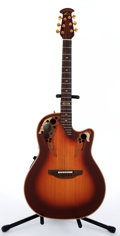 Musical Instruments:Acoustic Guitars, 1981 Ovation 1985-1 Sunburst Electric Acoustic Guitar #1888....
