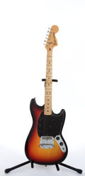 Musical Instruments:Electric Guitars, 1977 Fender Mustang Sunburst Electric Guitar #S827809. ...