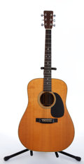 Musical Instruments:Acoustic Guitars, 1985 Martin HD-28 Natural Acoustic Guitar #454345....