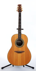 Musical Instruments:Amplifiers, PA, & Effects, 1975 Ovation 1117-4 Natural Electric Acoustic Guitar #029194....