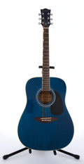 Musical Instruments:Acoustic Guitars, 2000's Gretsch Synchromatic Blue Acoustic Guitar # N/A....